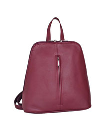Leder Rucksack dunkel rot EM-EL Collection Backback leather