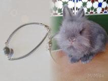 joya-artistica-con-pelo-animal-mi-miga-pulsera-cuero-plata-ley-perla-cristal-conejo-chinchilla