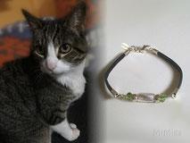 joya-artistica-con-pelo-animal-mi-miga-pulsera-cuero-plano-plata-ley-perla-cristal-piedras-swarovski-gato-vani