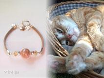 joya-artistica-con-pelo-animal-mi-miga-pulsera-recuerdo-cuero-plano-plata-ley-perla-cristal-piedras-swarovski-gato-chimo