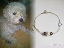 joya-artistica-recuerdo-con-pelo-animal-mi-miga-pulsera-cuero-plata-ley-inicial-elementos-swarovski-perro-tobby