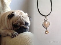 artistic-jewellery-mi-miga-memorial-necklace-leather-sterling-silver-swarovski-star-artisan-glass-heart-animal-pet-hair-dog-frank