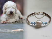 artistic-pet-hair-jewellery-mi-miga-bracelet-leather-band-sterling-silver-facetted-crystals-swarovski-heart-toggle-clasps-chain-dog-nala