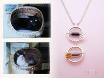 jewel-artisan-necklace-personalized-silver-glass-elements-swarovski-animal-hair-cats-mota-pentxo