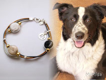 jewel-artisan-bracelet-personalized-leather-silver-gold-glass-elements-animal-hair-dog-cooper