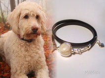 artistic-jewel-mi-miga-bracelet-double-leather-sterling-silver-heart-charm-glass-  pearl-pet-animal-hair-dog-nelly