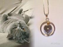 artistic-jewellery-mi-miga-necklace-sterling-silver-circle-glass-heart-charm-swarovski-pet-animal-hair-cat-cash