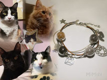 joya-artistica-con-pelo-animal-mi-miga-pulsera-cuero-plata-ley-charms-perlas-cristal-gatos-elsa-elvis-greta-paul-recuerdo-shirka