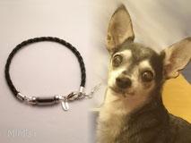 joya-artistica-con-pelo-animal-mi-miga-pulsera-cuero-trenzado-plata-ley-perla-cristal-perro-charlie