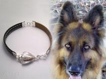 mi-miga-artistic-jewel-bracelet-pet-memorial-leather-silver-glass-pearl-dog-hair-xena