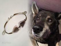 artistic-pet-hair-jewellery-mi-miga-memorial-bracelet-leather-sterling-silver-glass-elements-charms-initial-paw-dog-hair-yacky