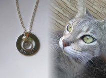 artistic-pet-hair-jewellery-mi-miga-pet-loss-memorial-necklace-steel-washer-engraved-sterling-silver-bezel-cup-glass-cabochon-tupi-swarovski-cat-michi
