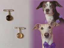 artistic-pet-hair-jewellery-mi-miga-charms-sterling-silver-bezel-cup-glass-cabochon-dogs-toffee-mayo