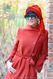Bonnet en jersey GOTS couleur brique