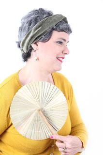 Bandeau pour les cheveux en velours de coton de couleur kaki
