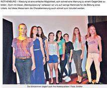 """Das """"P-Seminar"""" des Rothenburger Reichsstadt-Gymnasiums"""