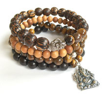 Courage + Protection Men's Mala Bracelet