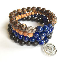 Wisdom Warrior Men's Mala Bracelet