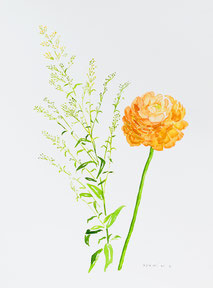 「Bloom today 013」 250x334mm 2021年