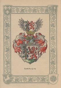 Das Familienwappen der westfälischen Familie Sarrazin weist auf eine lange Tradition.