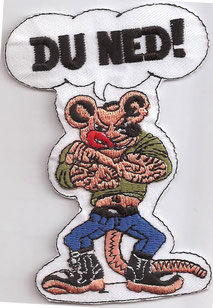 DU NED, Ultras, Boot Boys Rocker Maus Mouse Aufnäher Patch