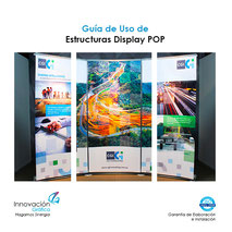 Estructuras Display, X banner, display, roll up, l banner, point of purchase