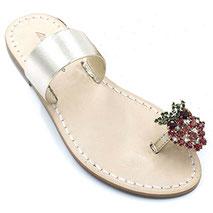 sandali gioiello con fragole in cristallo swarovski
