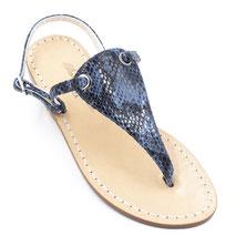 sandali blu' pitonati  artigianali