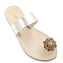 sandali gioiello con alluce dorati