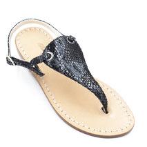 sandali capri nero artigianali