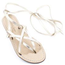 sandali alla schiava personalizzati dorati