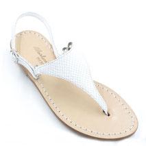 sandali fatti a mano colore bianco