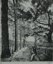 初夏の迎賓館 (銅版画 ・ F10)