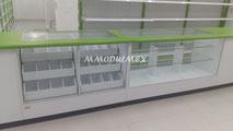 Vitrinas mostrador, vitrinas de madera para farmacia