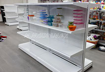 Góndola metálica para supermercado, góndola para minisuper, estantería metálica