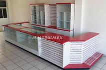 Muebles de tiendas, mostradores de tiendas, vitrinas para tiendas,  muebles para tiendas