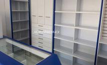 mostradores y vitrinas para farmacias