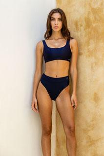 Highwaste bikini - dark blue