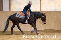 Reinhard Hochreiter bietet Reining-Kurse und Reitunterricht für Reining-Reiter.