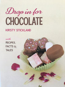 Front cover of the book Drop in for Chocolate, written by Kirsty Stickland