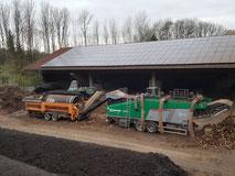 Kompostieranlage, Komposthof, Erdenhof