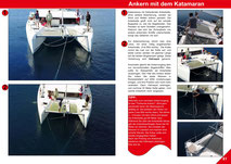 Catamaran Skipper Training book, Catamaran Docking Training, Catamaran Lagoon 42, Catamaran Maneuer Training, Catamaran Skipper Training, Catamaran Harbor Maneuver Training, Spring leash undocking, Catamaran Docking Training, Nautical Miles, Anchor chain