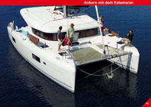 Anchoring, Catamaran Skipper Training book, Catamaran Docking Training, Catamaran Lagoon 42, Catamaran Maneuer Training, Catamaran Skipper Training, Catamaran Harbor Maneuver Training, Spring leash undocking, Catamaran Docking Training, Nautical Miles