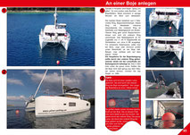 Secure Buoy, Catamaran Skipper Training book, Catamaran Docking Training, Catamaran Lagoon 42, Catamaran Maneuer Training, Catamaran Skipper Training, Catamaran Harbor Maneuver Training, Spring leash undocking, Catamaran Docking Training, Nautical Miles