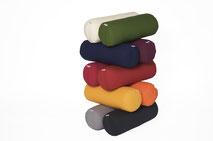 yogawood Yogabolster klassisch aus Kapok in den Farben Burgundy rot, Pflaume, Olive grün, Sand, Orange, Blau, Rot