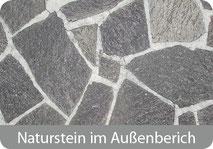 Reinigung von Naturstein, Schiefer im Außenbereich