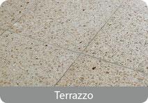 Terrazzo Böden und Terrazzostufen im Stiegenhaus sauber reinigen mit Powermaxx