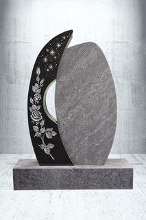Grabstein Orion Blütenzweig