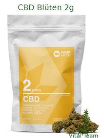 CBD Blüten 2 g  HempMate jetzt online Bestellen bei HempMate Vital Team Vertriebspartner