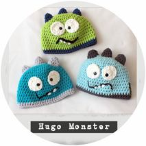 "Kindermützen ""Hugo Monster"""